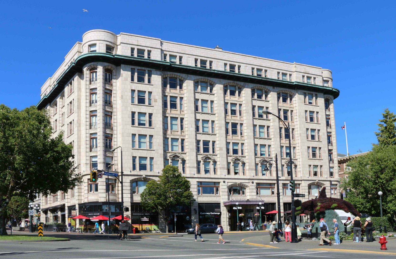 The Belmont Building. 600-620 Humbolt Street / 801-807 Government Street, in downtown Victoria. Robert Butchart and the B.C. Cement Company maintained corporate offices on the third floor of the Belmont Building between 1919 -1943. (photo by Author)