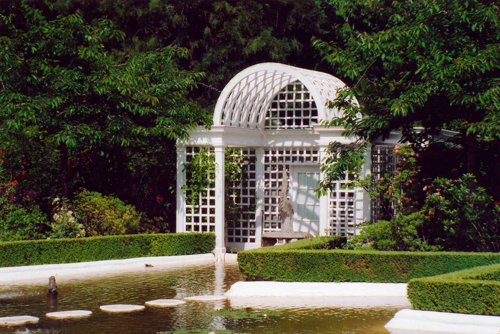 The Duck Pond Arbor designed for Robert Butchart by archtect Samuel Maclure circa 1925 (photo by Author)
