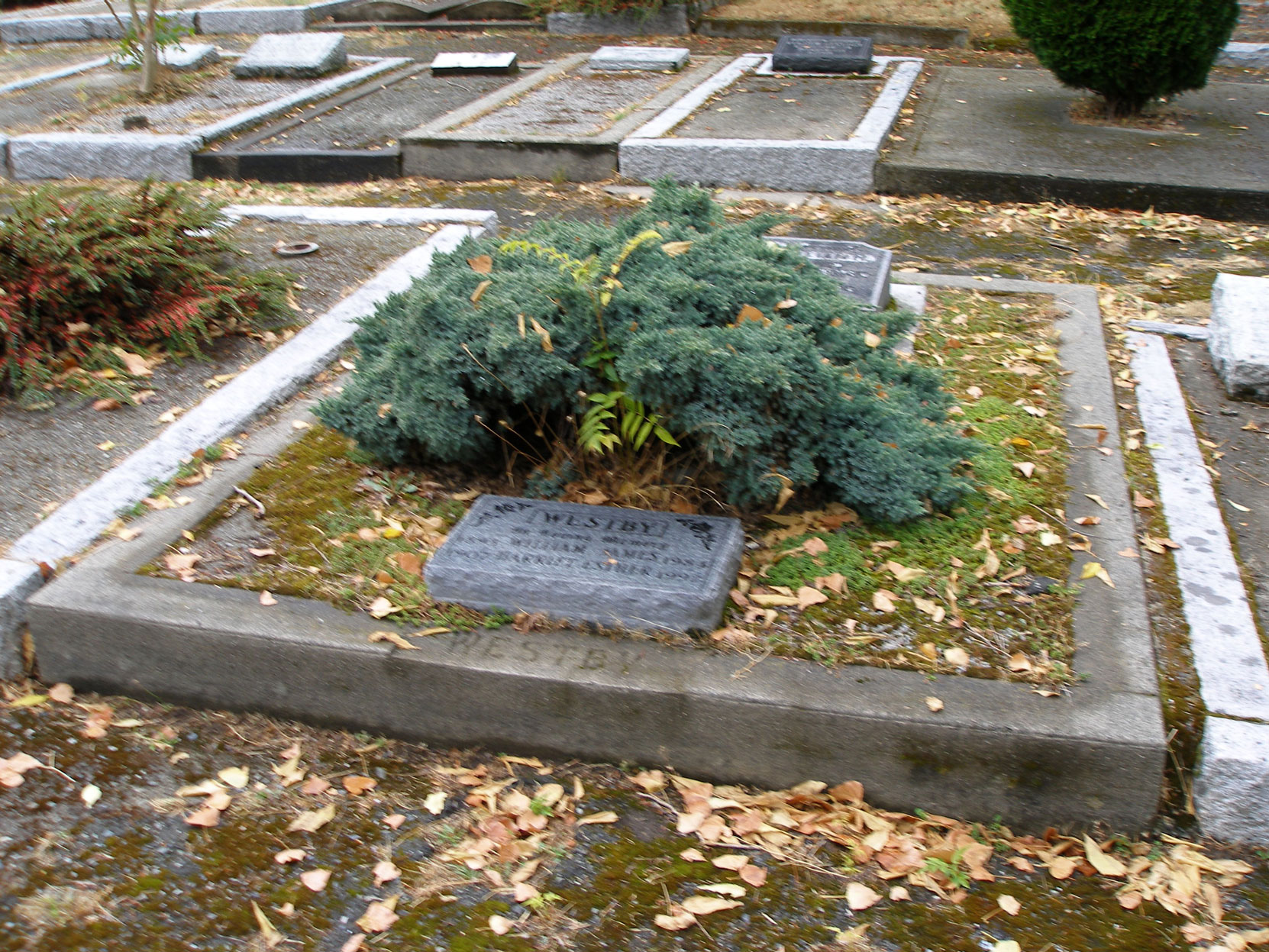 William Henry Westby grave, St. Luke's Anglican Cemetery, Saanich, B.C. (photo by author)