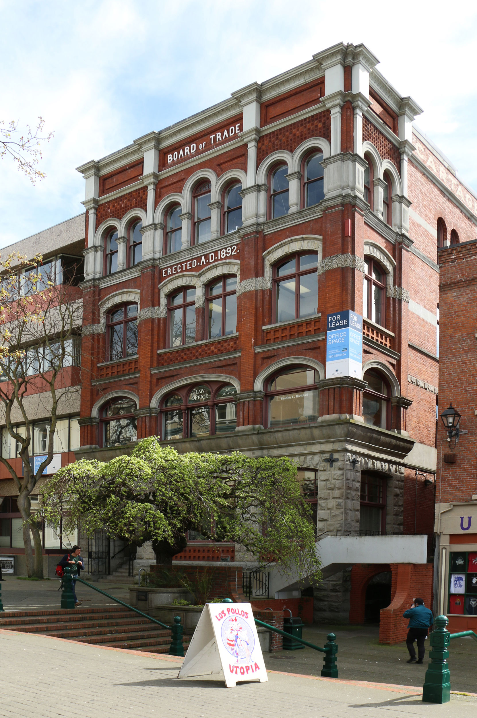 The Board of Trade Building, 31 Bastion Square, Victoria, B.C. The Vancouver Portland Cement Company had its head office in the Board of Trade Building from 1904-1906. The company kept its Victoria head office in the Board of Trade Building until 1919 (photo by Author)