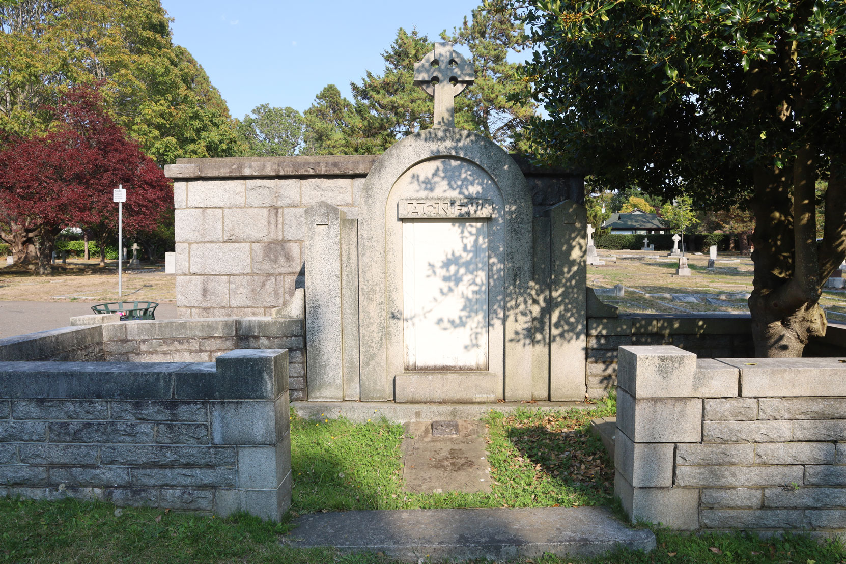 "The Agnew family grave, Ross Bay Cemetery, where Katherine ""Kay"" Agnew is buried. (photo: Mark Anderson)"
