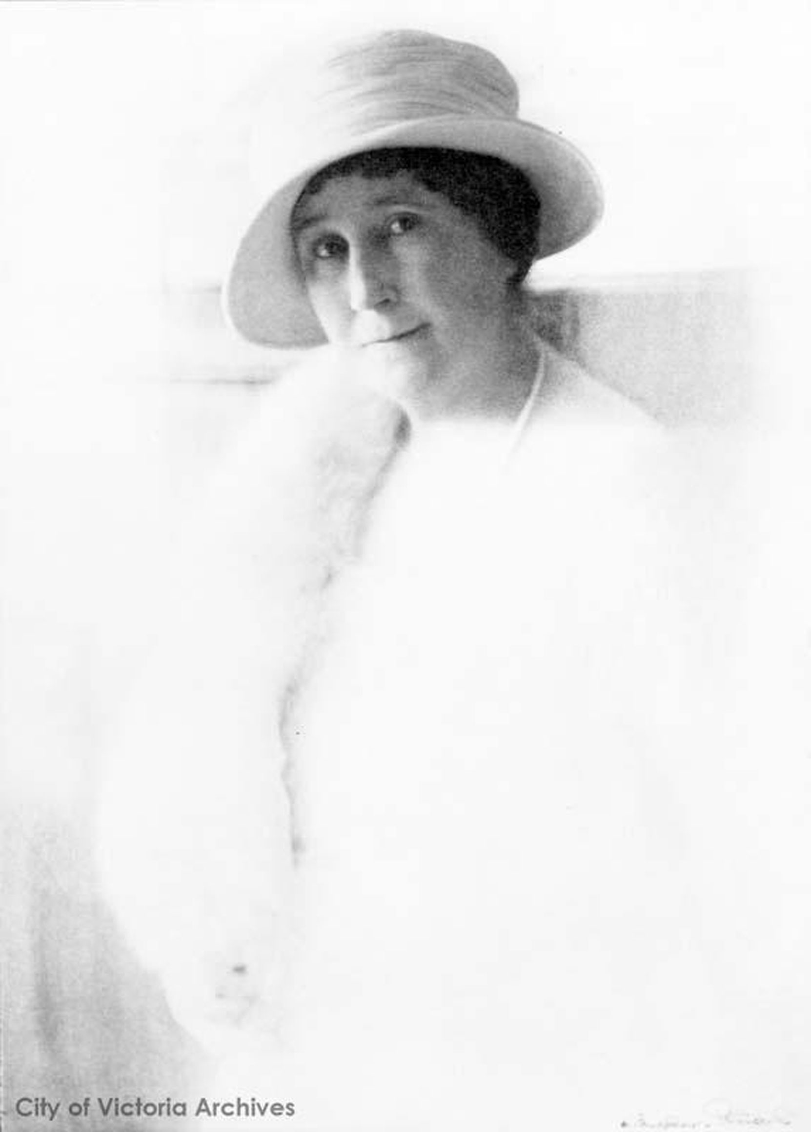 Jennie Butchart, circa 1929. Photo by Harry Upperton Knight. (City of Victoria Archives photo M00552)