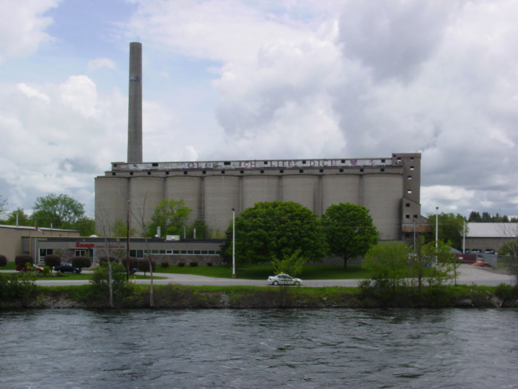 The remains of the Canada Cement Company plant at Lakefield, Ontario in 2003. It has since been demolished (Photo by Author)