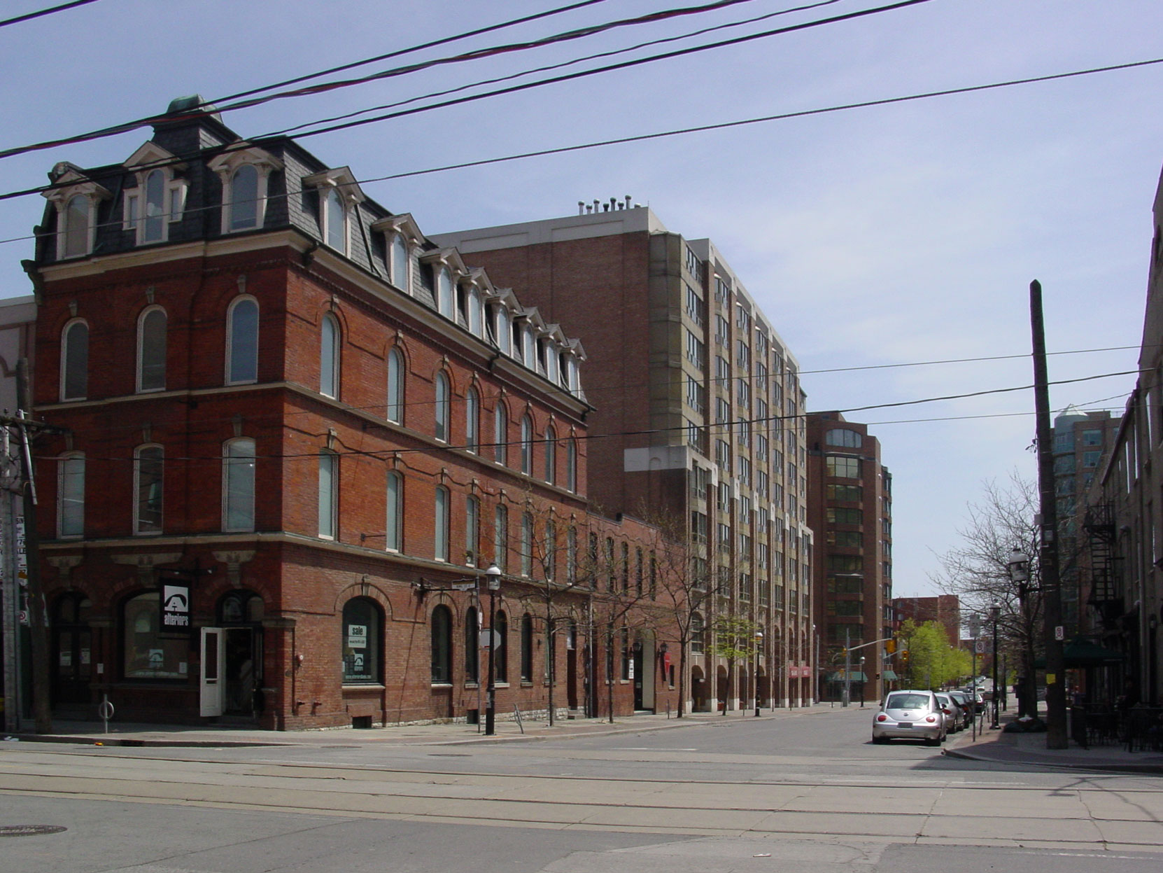 The south east corner of George Street and King Street East in downtown Toronto. This block of George Street was Jennie Butchart's childhood home. (Photo by Author)