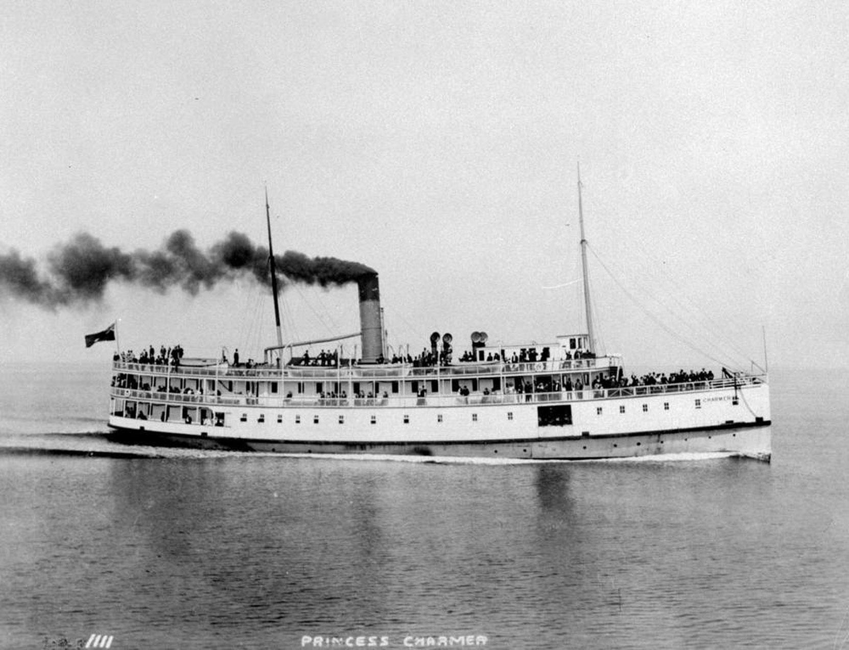 The CPR Coastal Service steamer SS Charmer, circa 1905 (BC Archives photo C-06031)